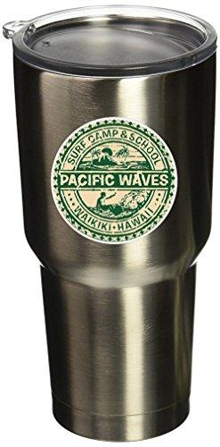 6000 Hawaii Surf Camp Vinyl Stickers 2.5