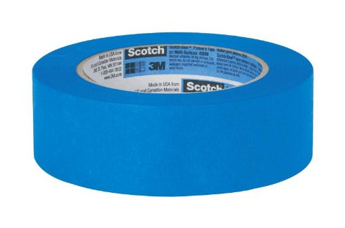 3M Scotch-Blue 2090 Safe-Release Crepe Paper Multi-Surfaces Painters Masking Tape, 27 lbs/in Tensile Strength, 60 yds Length x 3/4