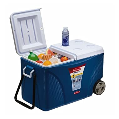 Rubbermaid FG2C0902MODBL Extreme 5-Day Wheeled Ice Chest/Cooler, 75-Quart, Blue