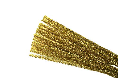 Set of 400 Bulk Buy!!! Metallic Tinsel Pipe Cleaners for Kids Crafts, Embellishing and Group Projects Choose Color (Gold)]()