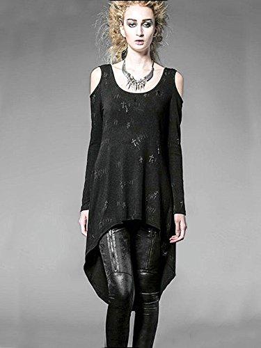 Dark Dreams Gothic Emo Longshirt Top Shirt Tunika Bluse Faith Kreuz Anhänger 34 36 38 40 Neu