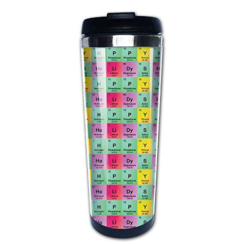 Taiji Coffee Mug (Science Teacher Funny Elements Periodic Table Biology Physics Insulated Travel Mugs Stainless Steel Vacuum Coffee Cup Mug Tumbler 14 Oz)