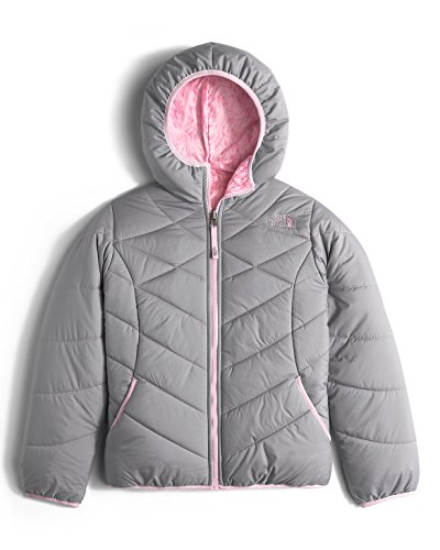 The North Face Reversible Perrito Jacket Girls' Metallic Silver Small