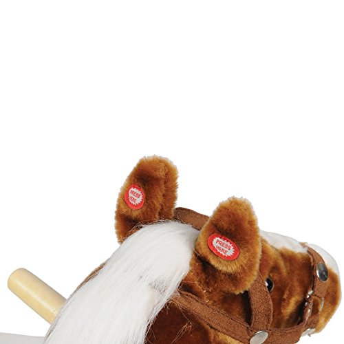 CP Toys – Plush Rocking Horse with Realistic Sounds – Safely Holds Children Up to 80 Lbs.