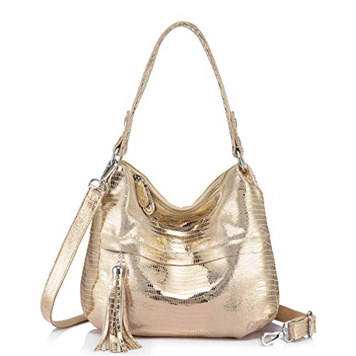 Women Hobos Bags Light Shoulder Gold Handbag Tassel Messenger vFv8wgrf
