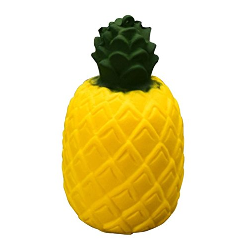 Yoyorule Squeeze Pineapple Slow Rising Decompression Toys Easter Gift Phone Strap (Yellow)