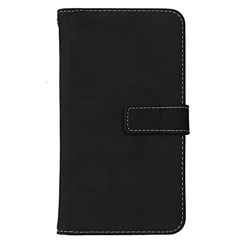 Samsung Galaxy Note 5 Flip Wallet Case, Samsung Galaxy Note 5 Case Leather [Cash and 9 Card Slots], BONROY® Retro Premium PU Leather Stand Flip Phone Case with Magnetic Card Slot Holder Wallet Book De black
