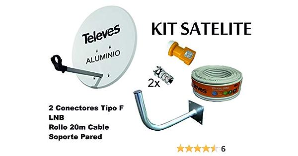 Kit Antena PARABOLICA para Astra TELEVES 63cm Aluminio + ...