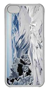 Customized iphone 5C PC Transparent Case - Eternal Snow Personalized Cover