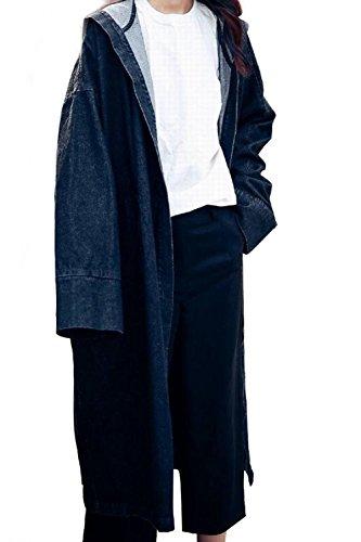 Lunga Parka Lunghe Felpa Jacket con Inverno Ragazza Donna Cardigan txwwf16pq