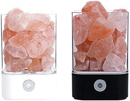 Luz de cristal USB Lámpara led natural del Himalaya Lámpara de sal ...