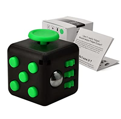 Fidget Cube Fidget Dice Toy Relieves Stress & Anxiety, Helps to Focus - For Adults and Kids - Extra Durable Silicone Non-Plastic Twiddle Cube