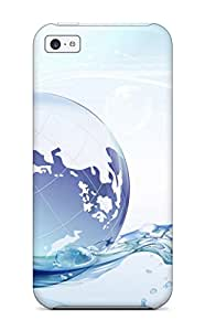 Best Hot Design Premium Tpu Case Cover Iphone 5c Protection Case(globe Floating On Water) 1227090K52131265