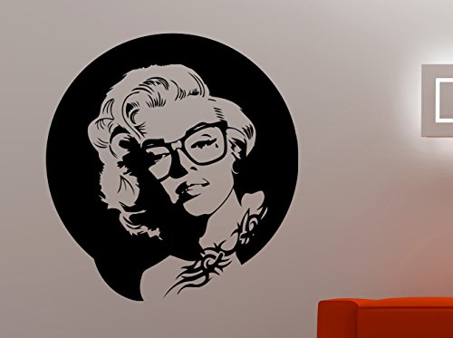 Marilyn Monroe Face Wall Decal Hipster Vinyl Sticker Hollywood Actress Home Interior Decorations Sexy Woman Art Room Bedroom Beauty Salon Decor 2mmr