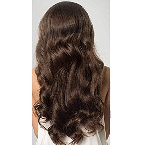 Moresoo 16 Inch Real Human Hair Tape in Extensions Brown Color 4 Skin Weft Human Hair Soft and Silky Human Hair with Invisible Tape 50g 20pcs Seamless Remy Hair