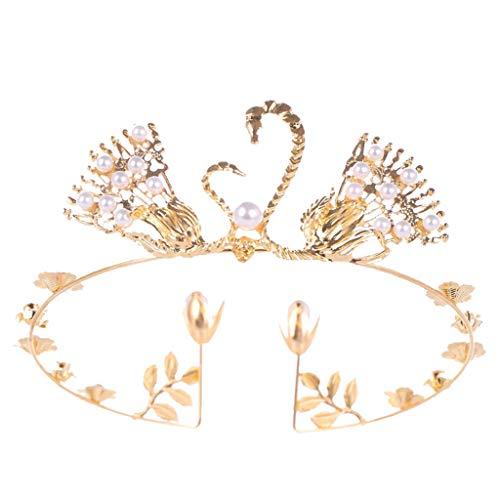 (Luxury Swan Crown,Lefthigh Elegant Queen Zircon Bridal Headdress Show Dress Prom Wedding Hair Ladies Jewelry)