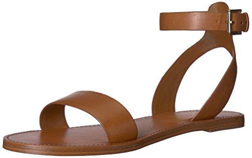 ALDO Women's CAMPODORO Flat Sandal, Cognac, 6 B US