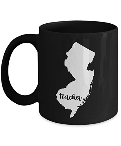 New Jersey Teacher Home State - Back To School - Teacher Day Coffee Mug Gift 11oz Ceramic Black (Derek Jeter Gift Baskets)