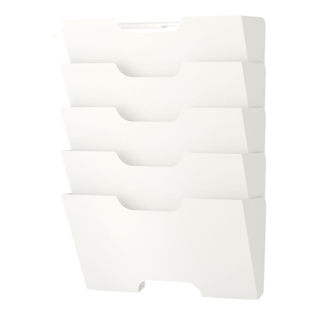 DLWDMRV Wall File Holder Organizer, Metal Modern Modular Design Metal 5 Storage Level Folders(Lxwxh) 13.0x10.0x4 Inches ROYKRFM