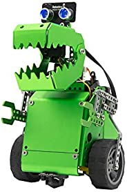 Robobloq Q-Dino 2 in 1 Programming Robot Kit, STEM Education, DIY Mechanical Building Programmable Robotic Toy
