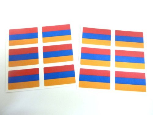 (Minilabel Mini Sticker Pack, 33X20mm Rectangle, Self-Stick Armenia Labels, Armenian Flag Stickers)