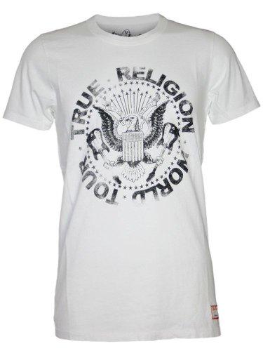 TRUE RELIGION Herren Designer Shirt - TOUR POSTER -L