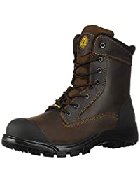 "Tiger Men's Safety Boots Steel Toe Waterproof CSA Approved Lightweight 8"" Leather Work Boots 7888"