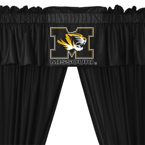 Missouri Tigers COMBO Shower Curtain & Valance/Drape Set (Drapes Size 82 X 63) - Decorate Your Shower and Bathroom Window & SAVE ON BUNDLING!