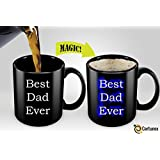 Heat Sensitive Mug | Color Changing Coffee Mug | Funny Coffee Cup | Best Dad Ever Magic Mug 11oz
