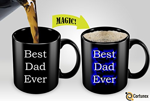 [Magic Coffee Mugs Heat Sensitive Color Changing Coffee Mug Good Gift Mug Best Dad Ever Magic Mug] (Cute Halloween Gifts For Coworkers)