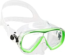 Cressi Estrella Jr Mask Gafas de Snorkeling, Unisex niños, Transparente/Verde(Lima), 7-13 años