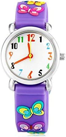 ساعة يد جيوتمي للأطفال الصغار وللأعمار من 3 8 ساعة انالوج بعقارب تايم مدرس ثلاثية الأبعاد بسوار من السيليكون للبنات الصغار والأولاد Amazon Ae