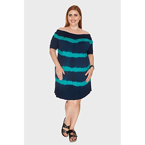Vestido Tye Dye Plus Size Marinho-46