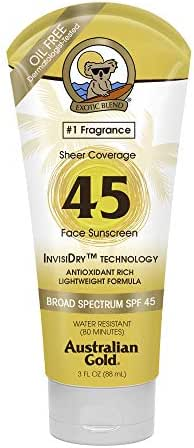Sunscreen & Tanning: Australian Gold Sheer Coverage