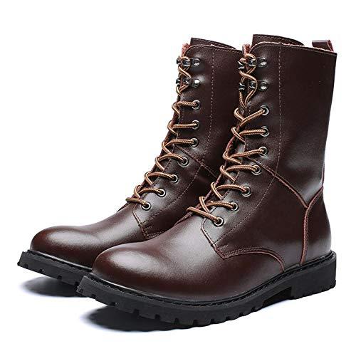 KUKI Stivali Da Uomo Scarpe Da Moto Autunno E Inverno Men ' S Casual Militare Stivali In Pelle Stivali Deserto Utensili Stivali Martin Stivali Moda Stivali Brown