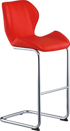 Global Furniture Bar Stool, Red Pu