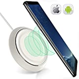 Wireless Charging Pad for IPhone X-8-8 Plus-Wireless Charger for Samsung Galaxy S9 S8 S8plus S7 S7 Edge Note 8 S6 Edge Plus- QI Wireless Charging Station-Stand-IPhone X Wireless Charger IPhone 8 White