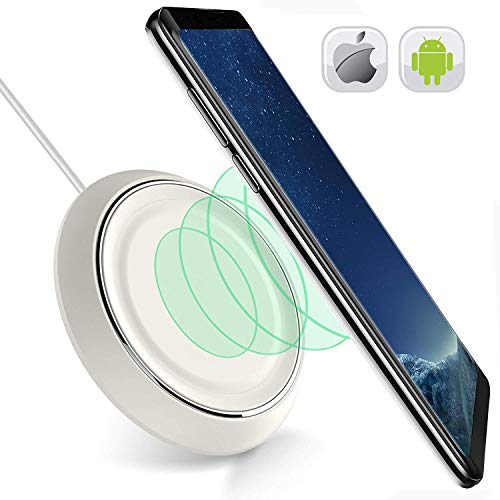 Wireless Charging Pad for IPhone X-8-8 Plus-Wireless Charger for Samsung Galaxy S9 S8 S8plus S7 S7 Edge Note 8 S6 Edge Plus- QI Wireless Charging Station-Stand-IPhone X Wireless Charger IPhone 8 White by Y-king
