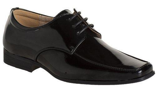 Paisley of London , Jungen Schnürhalbschuhe Schwarz Patent Black