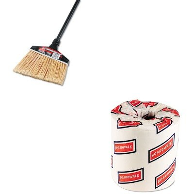 KITBWK6180DRA91351CT - Value Kit - O-cedar Maxi-Angler Broom (DRA91351CT) and White 2-Ply Toilet Tissue, 4.5quot; x 3quot; Sheet Size (BWK6180) by O-Cedar