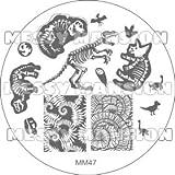 MESSY MANSION MM47 Nail Art Stamping Plate - Dinosaur theme