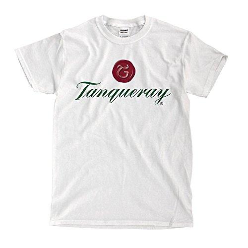 Krissry Mens Tanqueray Gin Logo Fashion T Shirt White X-Large