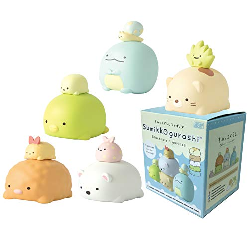CLEVER IDIOTS INC SAN-X Sumikkogurashi Stackable Figurines - Blind Box Includes 1 of 5 Collectable Figurines - Fun, Silly, Versatile Decoration - Authentic Japanese - Box Blind