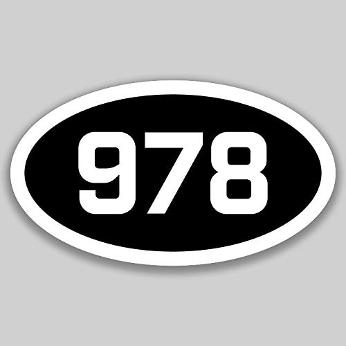 DHDM 978 Area Code Sticker Massachusetts Lowell Beverly Chelmsford City Pride Love | 5-Inches by 3-Inches | Premium Quality Vinyl UV Resistant Laminate PD2511