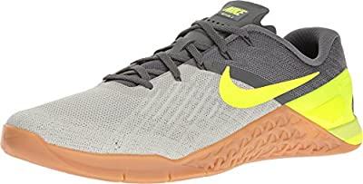 NIKE Men's Metcon 3, Dark Grey/Volt-Pale Grey, 14 M US