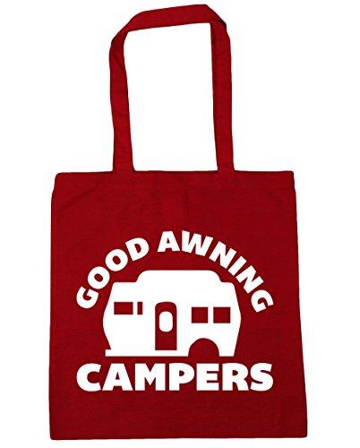 HippoWarehouse Good Markise Campers Einkaufstasche Fitnessstudio Strandtasche 42cm x38cm, 10 liter - Baumwolle, Klassisch Rot, 100% baumwolle 100% baumwolle, Damen, One size