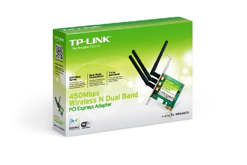 TP-LINK TL-WDN4800 Dual Band Wireless N900 PCI Express Adapter,2.4GHz 450Mbps/5Ghz 450Mbps, Include Low-profile Bracket