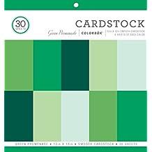 "ColorBok 73477B Smooth Cardstock Paper Pad Green Promenade, 12"" x 12"""