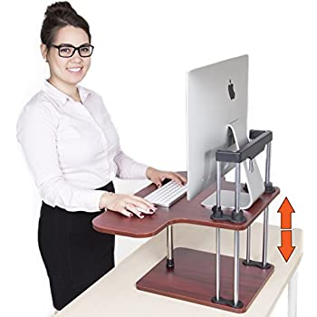 this item uptrak standing desk by stand steady cherry single level