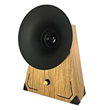 Retro Wooden Speaker Handmade by Nuvitron - Model Bell, The Vintage Looking Bookshelf Speaker with an Internal Acoustic Soundwave Chamber for a Natural and enhanced Sound - Bluetooth